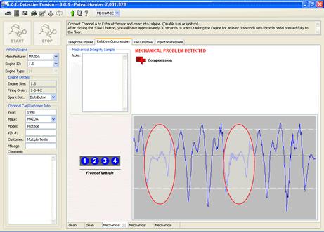 Software ACE Misfire Detective Compression Test