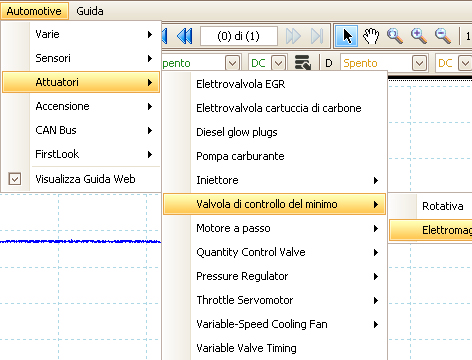 Menu Automotive Software PicoScope
